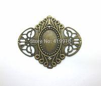 antique filigree metal frame - Antique Bronze Filigree Cameo Frame Settings Wraps Connnector Decoration DIY Embellishments x5 cm J0580