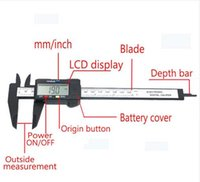 Wholesale Hot sale mm inch LCD Digital Electronic Carbon Fiber Vernier Caliper Gauge Micrometer Measuring Tool