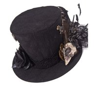 animal fair - rq bl stampunk world fair pirate top hat birdhead gears hat SP052