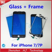 Wholesale Replacment LCD Front Glass Outer Lens Touch Screen Cover With Frame Bezel for iPhone7 Plus Glass Lens Via DHL