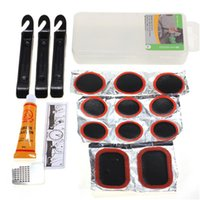 Wholesale Bicycle Flat Tire Tyre Repair Kit Tool Set Cycling Patch Rubber Portable fill Bike accessories with box case Outdoor Sports