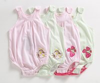 Wholesale 2016 baby clothing baby jumpsuits baby rompers cotton Condole belt clothes triangle picture fruit style summer clothing B