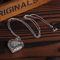 Wholesale Lovely Silver Color Pocket Watch Pendant Watch Vine with Necklace Chain P600 P605