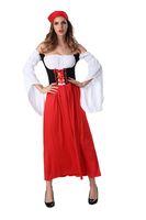 Wholesale Sexy German Beer Girl Costume Bar Maid Bavarian Wench Fancy Dress Oktoberfest halloween costume Red M L XL Cosplay