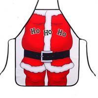 Wholesale Christmas Apron Kitchen Cooking Aprons Christmas Dinner Party Apron Santa Claus HOHO Apron Pinafore Christmas Decoration Product JF