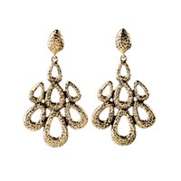 big earrings collection - Vintage Alloy Flower Dangle Earrings Big Golden Chandelier Fashion Ladies Earring Designer Dress Woman Jewelry Accessories Collection