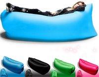 Wholesale Fast Inflatable hangout Air Sleeping Hiking Camping Bed Beach Sofa Lounge Banana Sleeping bags banana lazy lay bag