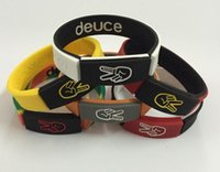 basketball party food - Fashion Basketball Power Bracelet Energy Special Deuce Silicone Bracelet Colorful Unique Silicone Wristband