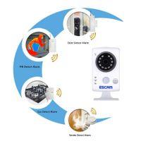 Wholesale ESCAM IP Camera Wireless WiFi HD P m IR Cut PIR Alarm Sensor Night Vision CCTV Security IP Camera US Plug QF502