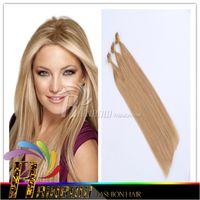8A Grade Brazilian Straight Extension des cheveux à ongles U-tip extension des cheveux cheveux pré-collés 1g / strand 100s / 100g / sac, 18
