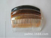 Wholesale jewelry hair accessories Kangha Tone Metal Hair Side Combs Clips for DIY Craft FOR WEDDING VEIL Hair Comb Clips Hair Findings Accessories