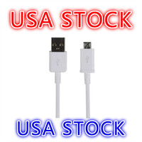Wholesale USA Stock Micro USB Cable For Samsung Galaxy S4 S5 S6 S7 Nokia HTC Motorola Android Charger Sync Cables M FT