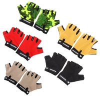 Wholesale Breathable Anti slip Outdoor Sports Gloves Bike Bicycle Cycling Gloves Multifunction Half Finger Fitness Gloves Y0710