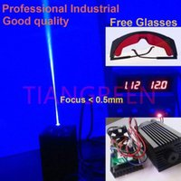 2000mw laser - High Power W mW nm nm Focusable Blue Laser Module for laser cutter mini laser engraving machine cnc with Free Glasses