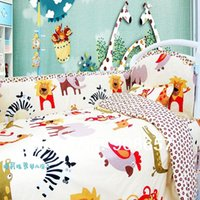 baby crib bumper pads - 2014 cute animal garden Character Baby Bedding Sets Crib Cot Bassinette Bumper Padded Quilted Full Surround