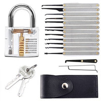 Wholesale Locksmith Supplies Good quality Transparent Lock Lock Picks Sets Stainless Handles Bag Removing Key Set Lockpick Locksmith Tools