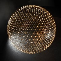 Wholesale Hot Sell Modern Stainless Steel LED Pendant Lights Firework Light Ball Restaurant Living Room Loft Lights Shops Lights110 V