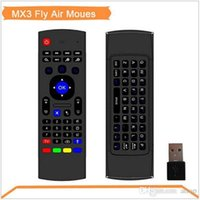 Wholesale Top Selling G Remote Control Air Mouse Wireless Keyboard Voice for XBMC Kodi Android Mini PC TV Box Skype MX MXQ CS918