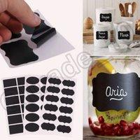 Wholesale 100PCS MMA25 Set Blackboard Sticker Craft Kitchen Jar Organizer Labels Chalkboard Chalk Board Stickers Black Label