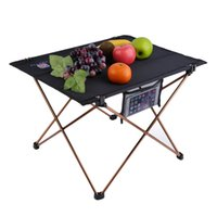 Wholesale Oxford Fabric Portable Foldable Folding Table Desk Furniture Outdoor Picnic Aluminium Alloy