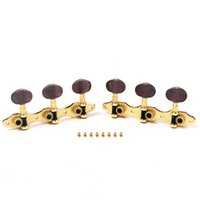 Wholesale Half circle coffee color classical guitar machine head three connections tuning key tuning peg upper string winder tuner peg