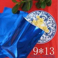 aluminium laminated - 9 cm blue aluminium foil flat bag heat open sealed metallic aluminizing medicine liquid packaging plain pouch