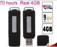 Wholesale FreeShipping UR GB USB Pen Drive Keychains Digital Audio Voice Recorder Pen Hours Long Recording