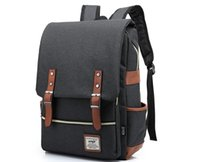 Wholesale Newest Fashion England Style Canvas Backpack College School Student Casual College bag Daypack Backpacks Travel bag