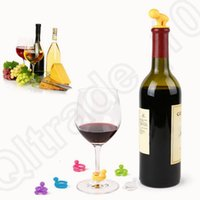 Wholesale 500PCS MMA28 Cartoon Creative Silicone Wine Bottle Stopper With Glass Cup Marker For Recognition Cup Champagne Bottle Stopper