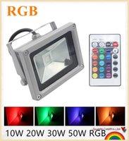Wholesale 10pcs Hot Sale Outdoor Floodlight W W W W Led Flood light RGB Warm Cool White Waterproof IP65 AC85V V