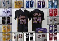 Wholesale A new arrival Los Angeles Kobe Bryant high school signature jersey for mens black yellow blue