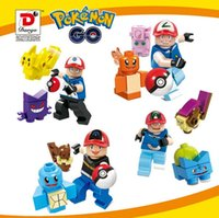 Wholesale Poke go minifigures DIY Building Blocks style children Pikachu Jeni turtle Charmander Poke Ball DIY Bricks Toys A D
