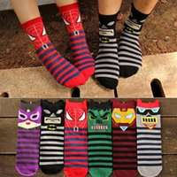 Wholesale Cartoon Character Design Women s Men s Socks Super Hero Series Harajuku D Socks AAA Quality Fashion Meias Socks DHL