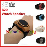 bass work - B20 Mini Protable Speaker Bass Smart Watch Speakers Work For Bluetooth Wireless Universal Music Player With TF Card VS U8 DZ09 GT08 Watch