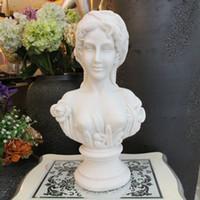 beauty sculpture - greek stone sex sculpture statue beauty Nevis bust customize bust resin sculpture home garden decoration