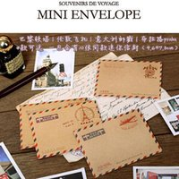 Wholesale mini Kraft brown paper envelope DIY scrapbooking hobby crafts