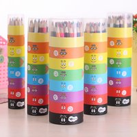 baby pink paint - DHL Color Secret Garden Colored Drawing Pencils Wooden Coloring Books Children Baby Painting Pens Graffiti Art Pencil ZJ P03