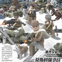 battle weapons - New Arrival World War Soviet Army Armed Force Moscow Battle Minifigures Building Blocks Sets Military Weapons Bricks Toys