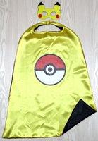 ash mask - POKE GO cape mask ash costume pikachu costume kids cape kemon GO costume party Favors holloween cosplay birthday costume