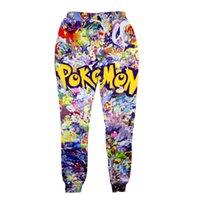 Wholesale New fashion poke long pants casual Pikachu pants D printing women pants soft sport long pants