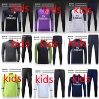 best training - kids NEW PSG football training suit Best Quality tracksuits verratti cavani di maria training suit Jogging suit