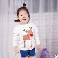 Wholesale Cartoon Baby Girls Knitted Pullover New Deer Children Knit Sweater Autumn Cute Long Sleeve Kids Tops Babies Clothes