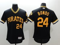 Wholesale 2016 Pittsburgh Pirates Jersey Mens Barry Bonds Black Pullover Cooperstown Collection Baseball Flexbase Jersey