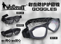 airsoft helmet rails - Airsoft Tactical Game Goggle Glasses of Lens for Helmet with Side Rails Motorcycle Racing Cycling GogglesTactical Combat Desertification