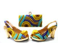 beautiful lady italian - JA109 Beautiful African Ladies Shoes And Bags Sets Yellow Color Italian Matching Shoe And Bag Set Size Fast shipping