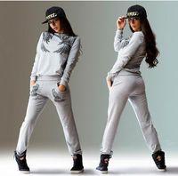 Wholesale Jogging Suits For Women New Autumn Winter Wings Print Sport Suit Tracksuits Women Sweatshirt Set Girls Hoodies And Pants