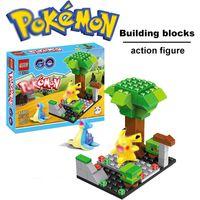 assemble toy - Poke Bricks QS08 Pokémon go Small particles Building blocks assembled action figure doll Pikachu Children s educational toys style wholesal