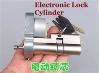 Wholesale 1PCS Top Grade Electronic Lock Cylinder Fingerprint Inductio Password Credit Card Remote Control With Motor