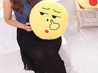 Wholesale Spot supply plush toys amazon hot style QQ expression pillow emoji cushion for leaning on can be customized with logo