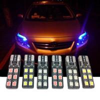 Wholesale T10 Width Light LED Car Bulbs LED chips Car LED Blue Purple White Red Lights Universal For Cars